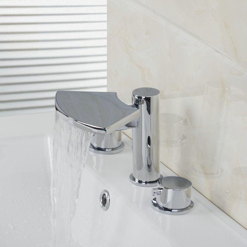 2 Handles Taps Waterfall Faucets,Mixers & Taps Bathtub Mixer Chrome ...