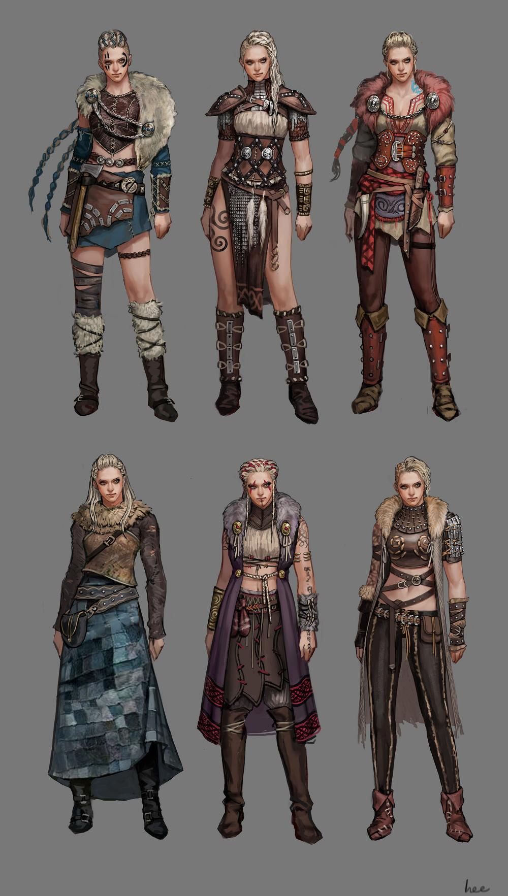 viking woman concept, ang po