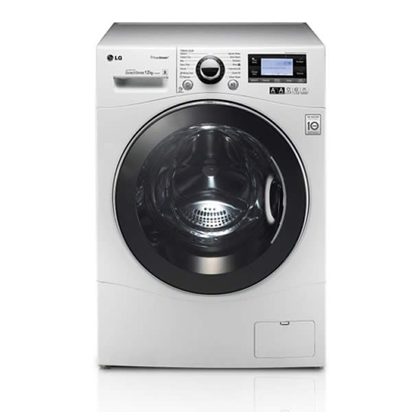 Lg F1495bdsa 1400rpm Dd Washing Machine 12kg Steam Class A White With Images Washing Machine Lg Washing Machine White Washing Machines