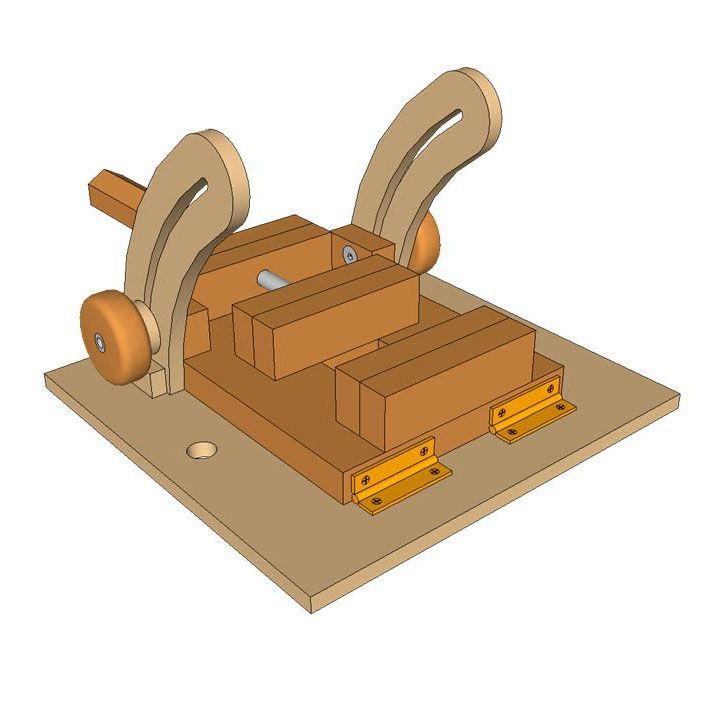 Planos para fabricar una mordaza inclinable para tu for Planos de carpinteria de madera