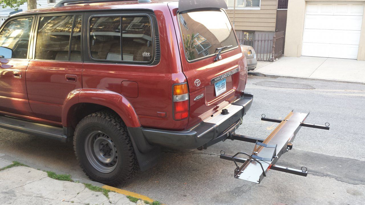 Full sized motorcycle hitch carrier limits on an 80 page 2 ih8mud forum