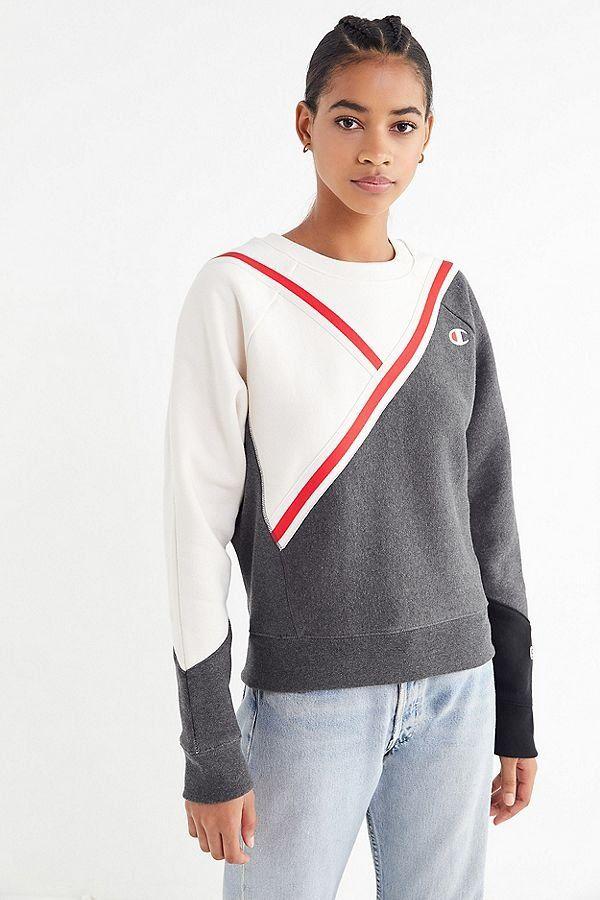 Champion Mode Et Diagonal SweatshirtOutfits Colorblock 2019 OiuPXkZ