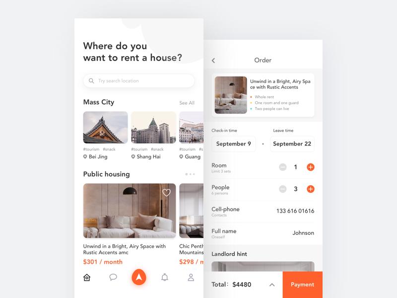 Renting Interface 1 App Design User Interface Design Website Design Inspiration