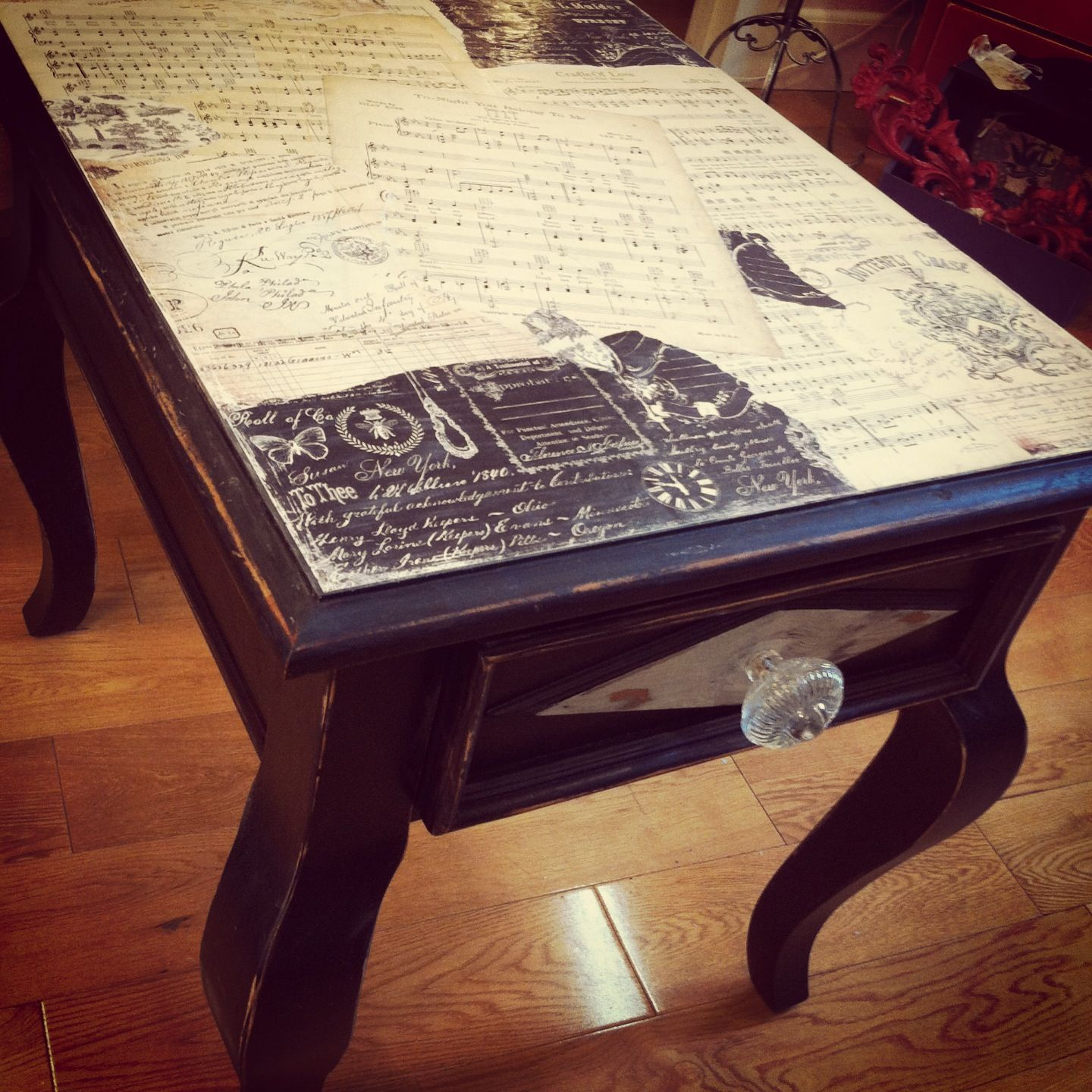 Recycling Couchtisch Decoupage Table Upcycling Möbel Pinterest Upcycling