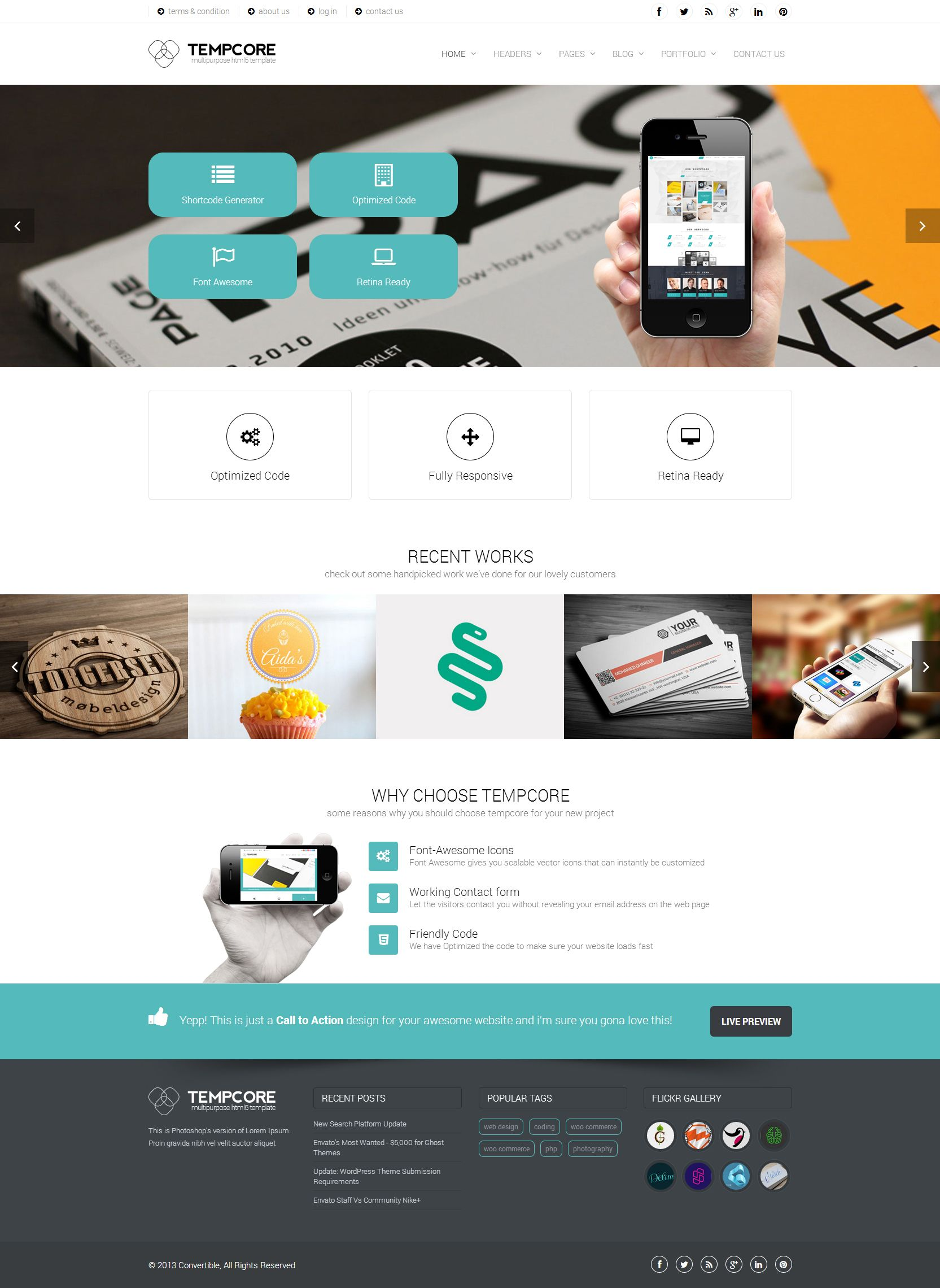 Tempcore business html5 template web store pinterest template tempcore business html5 template cheaphphosting Image collections