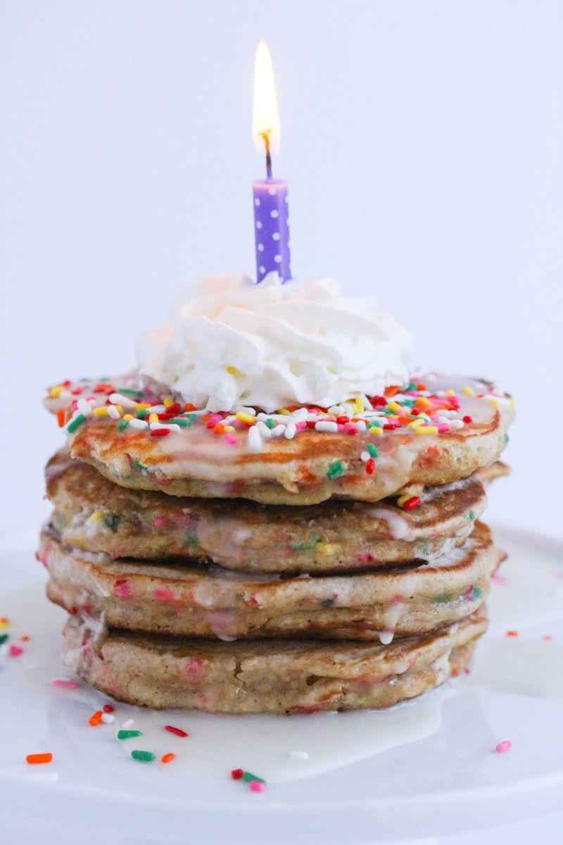Birthday Cake Pancakes Birthday cake pancakes, Food, Cake