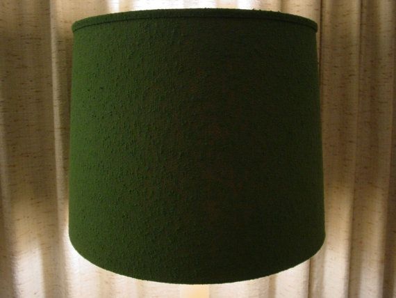 Lampshade/Drum Lampshade/Emerald Green textured by vintagehound ...