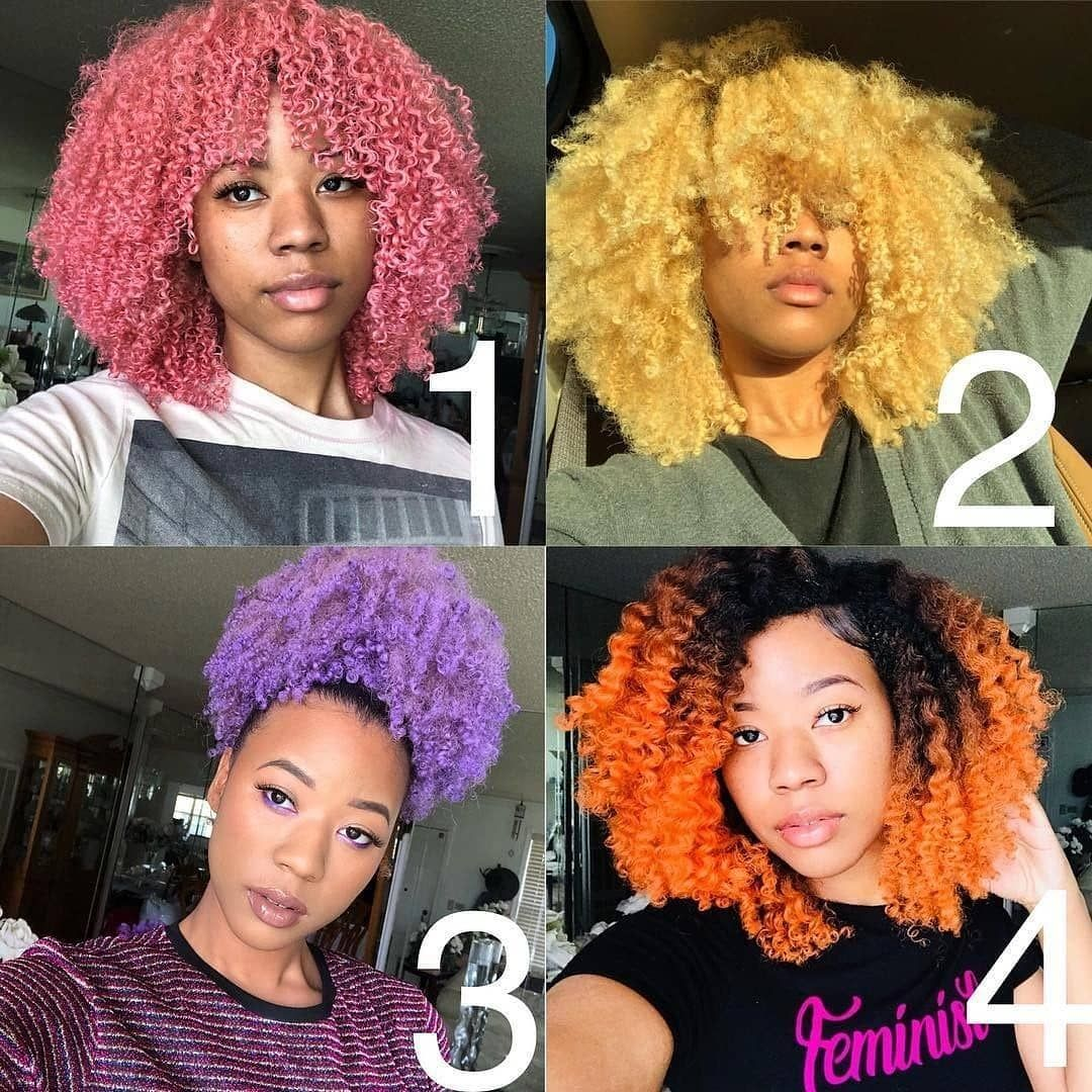 Naturallydoingthemost On Instagram London Starr Naturallydoingthemost Teamnatural Natural Hair Color Natural Hair Styles Colored Curly Hair