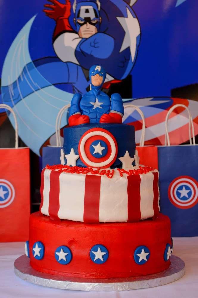 Captain America Birthday Party Ideas Captain america birthday
