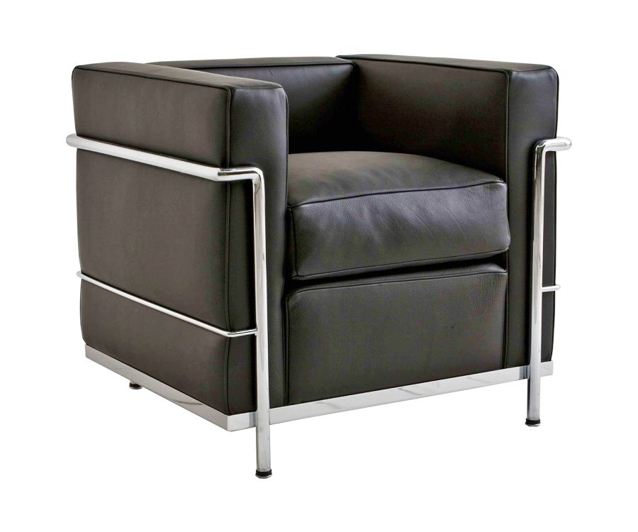 le corbusier lc2 sessel 950 made in italy. Black Bedroom Furniture Sets. Home Design Ideas