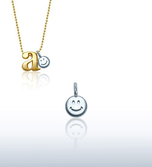 Alex Woo  Mini Addition Smiley Face in Sterling Silver