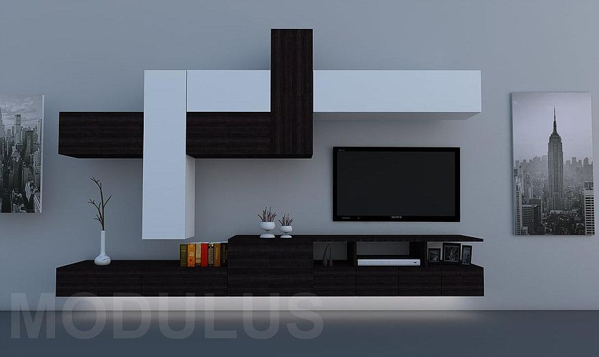 Modulares para living tv lcd led wall unit muebles for Muebles de living modernos fotos