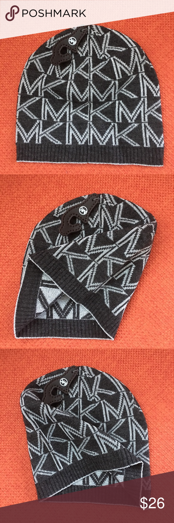 Michael Kors Hat/ Beanie NWT Logo knit, Knit beanie hat