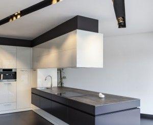 Keramisch keukenblad betonlook small kitchen