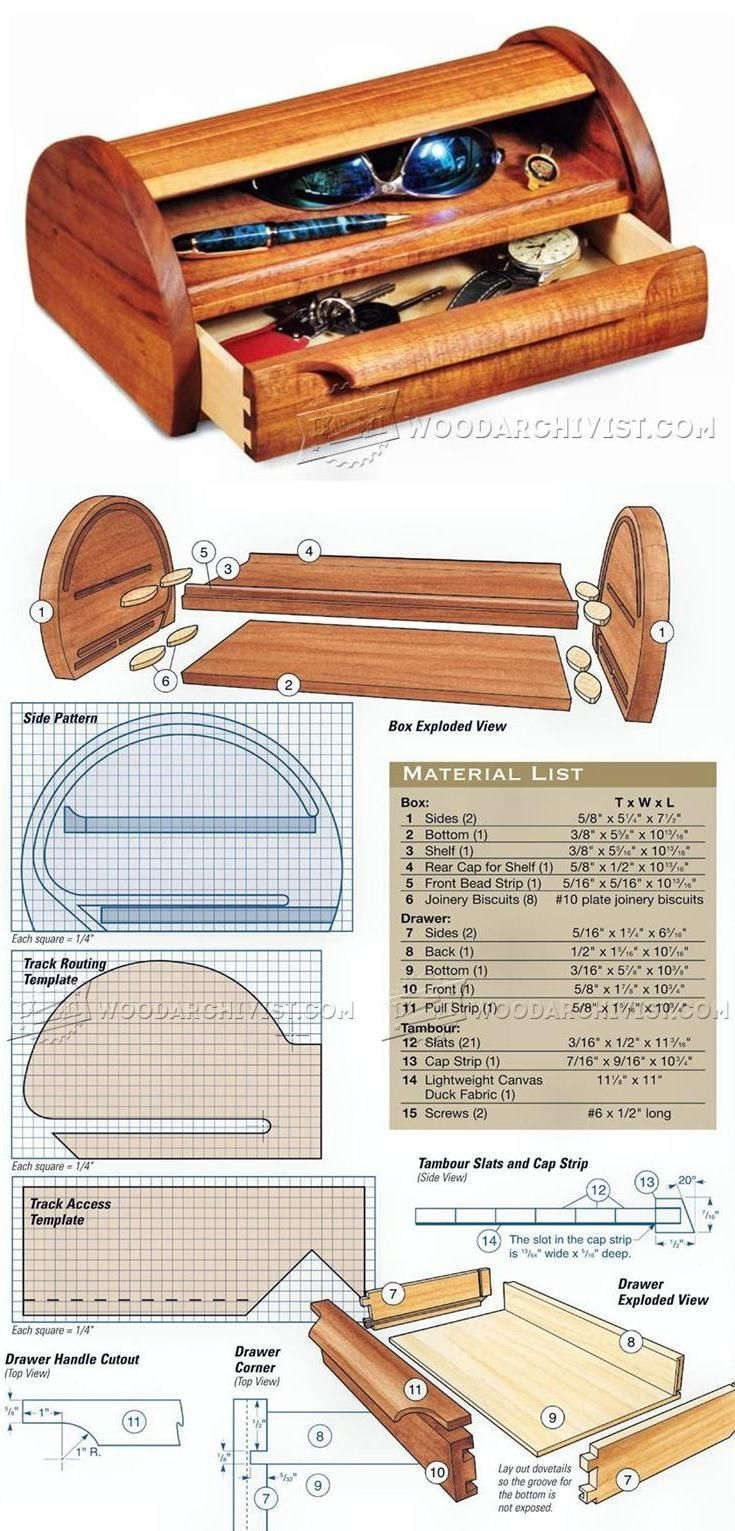 tambour topped box plans woodworking plans and projects on useful diy wood project ideas beginner woodworking plans id=13461