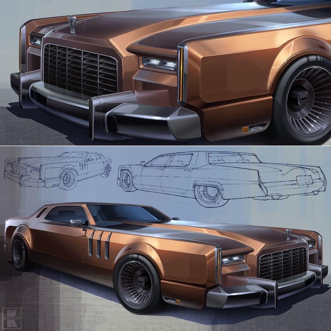 "Car Design World on Instagram: ""American beauty by Craig Kember @kragyen  #cardesign #car #design #carsketch #sketch #americancar #usacars"" #Concept cars"