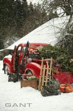 Old Truck Decorated for Christmas