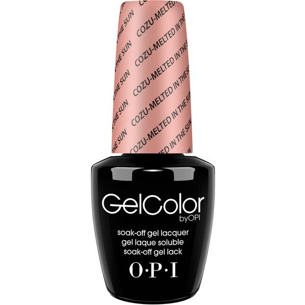 OPI GelColor Nail Polish Cozu-Melted ($17) ❤ liked on Polyvore featuring beauty products, nail care, nail polish, pink, opi nail polish, opi, opi nail varnish and opi nail color
