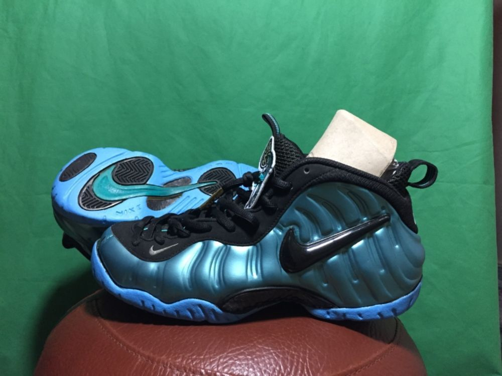 NIKE AIR FOAMPOSITE PRO ELECTRIC BLUE 624041-410 SIZE 9 SNEAKERS SHOES   fashion   d94060c0b