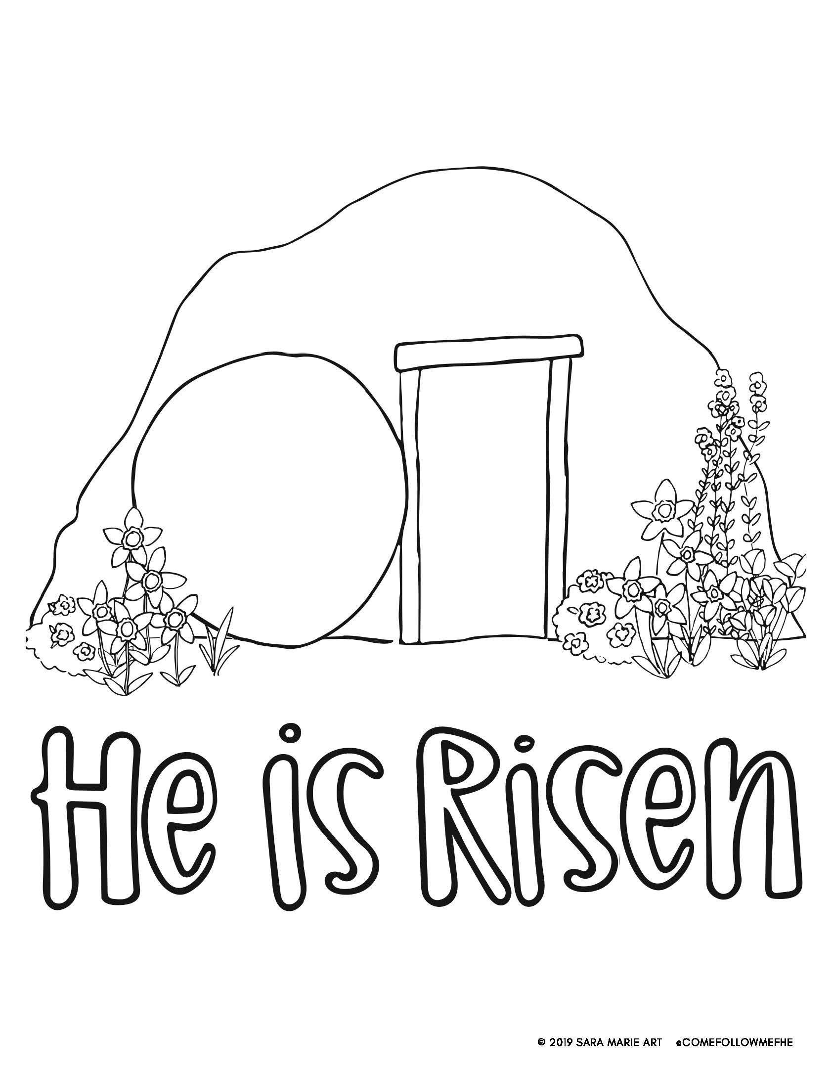 Easter O Grave Where Is Thy Victory Coloring Pages Lds