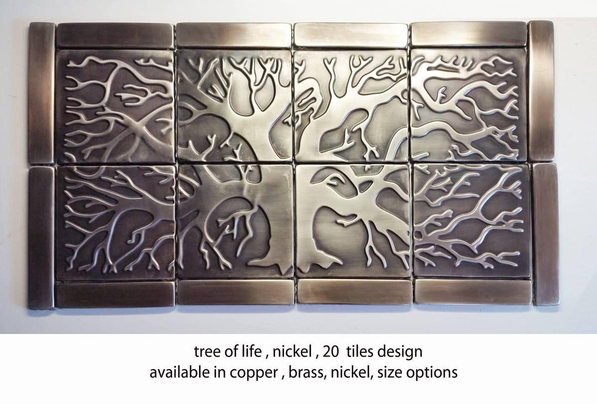 Photo of Tree of Life Kitchen Backsplash Tiles – set of 20