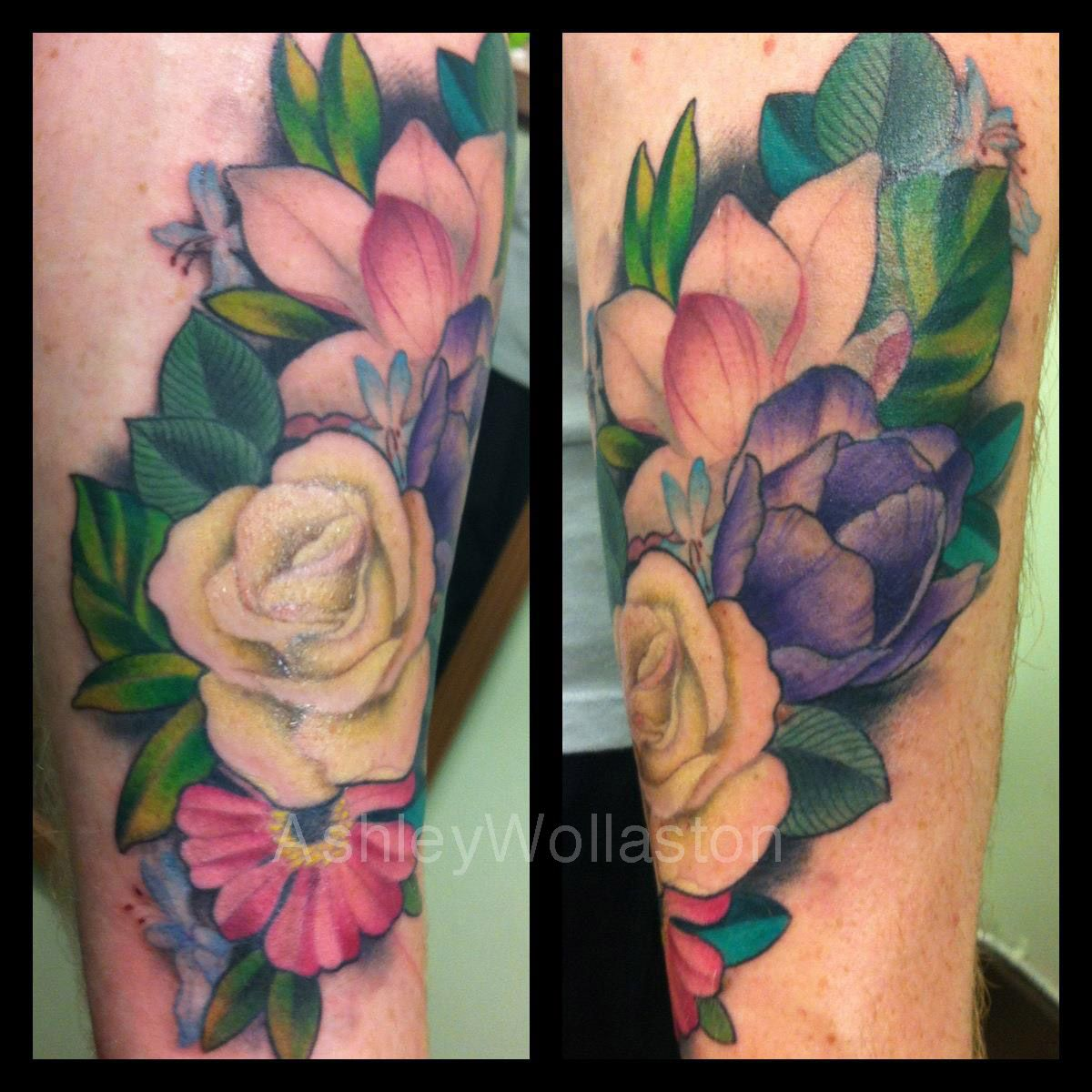 Ashley wollaston super genius tattoo seattle wa color tattoo ashley wollaston super genius tattoo seattle wa color tattoo flowers roses izmirmasajfo