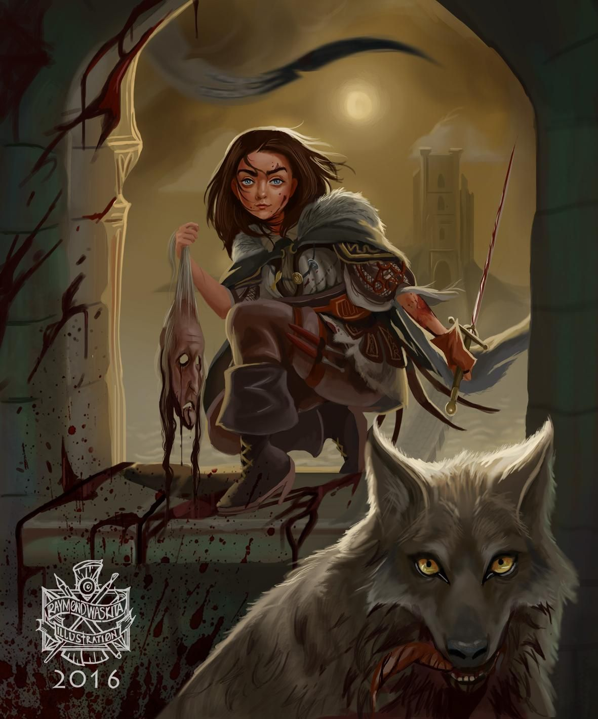 Warriors Fire And Ice Ar Points: The Starks Sends Their Regards: Badass Arya & Nymeria