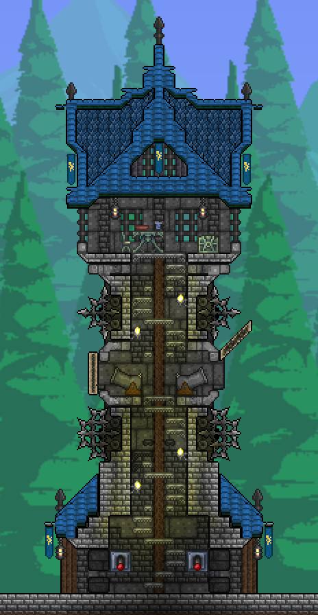 Pc Pellaeon S Creations With Images Terraria House Design Terraria House Ideas Terraria Castle