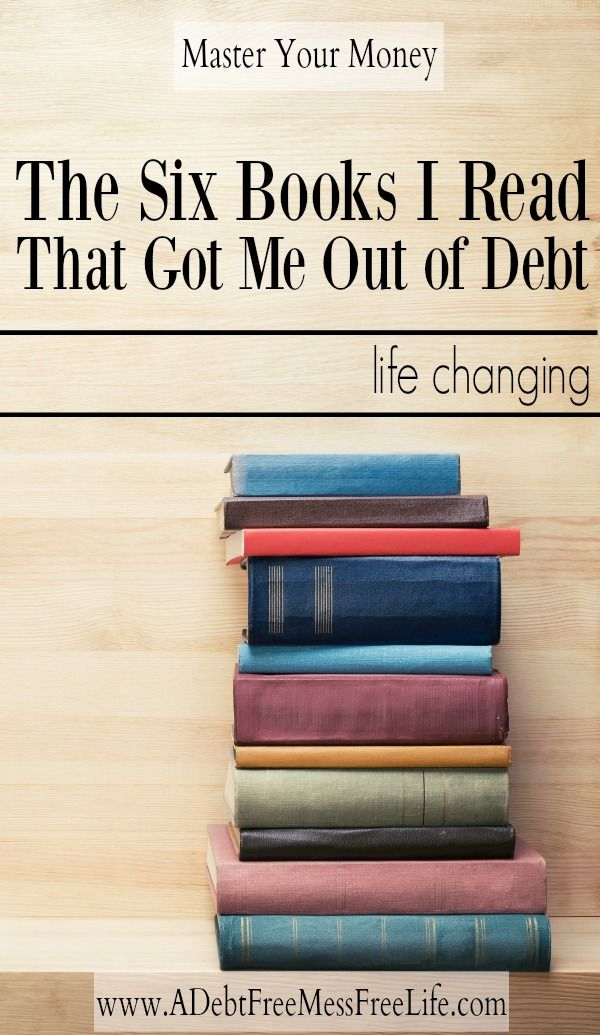 Want to get out of debt?  These six books had such a life changing impact on my relationship with money I was able to finally break free from the chains of debt and become financially free!