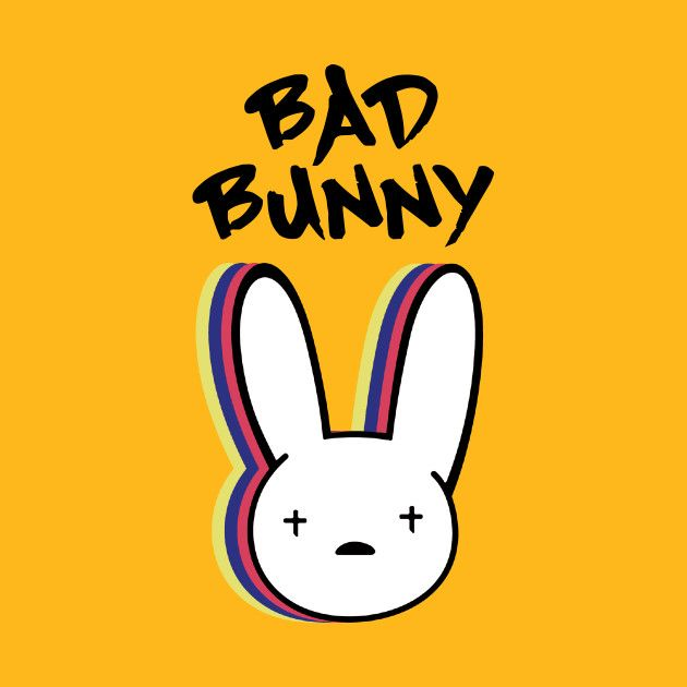 Check Out This Awesome Bad Bunny Rabbit Design On Teepublic Bunny Painting Bunny Wallpaper Bunny Tattoos