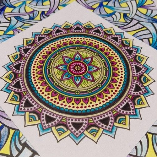 Beautiful Example Of A Colored Mandala From Instagram