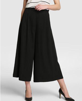 94b13161e72 Falda pantalón de mujer Amitié en negro