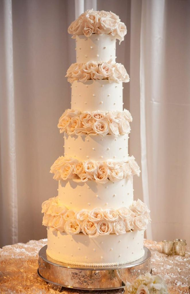 elegant wedding cakes with flowers slender wedding cake let them eat cake 13987