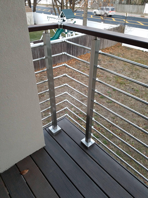 Modern Square Stairs Balcony Hand Rail Staircase Railing Kit