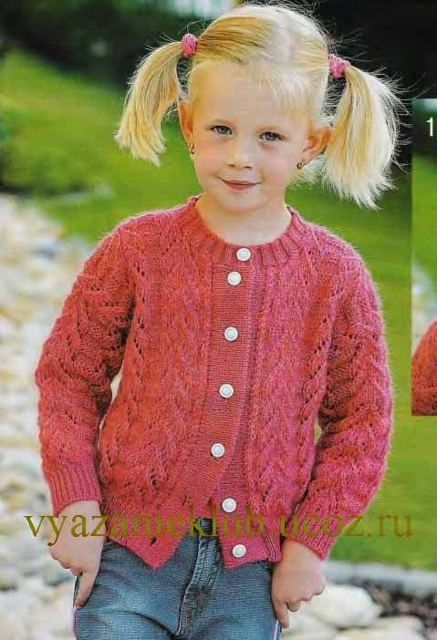 3dbf0336f Картинки по запросу кофта для девочки 3-4 лет спицами