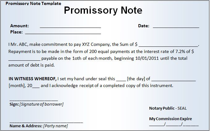 Promisary Note Template Gregory Valore Gregory6531 On Pinterest