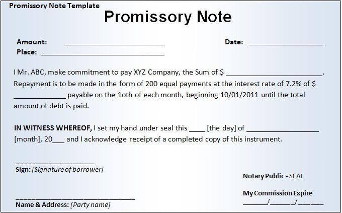 Doc575709 Demand Promissory Note Sample Demand Promissory – Form Promissory Note