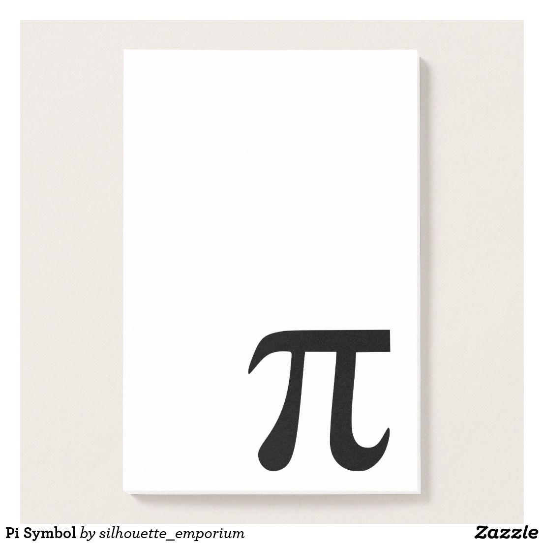 Pi Symbol Post It Notes Zazzle Com Post It Notes Note Paper Pi Symbol