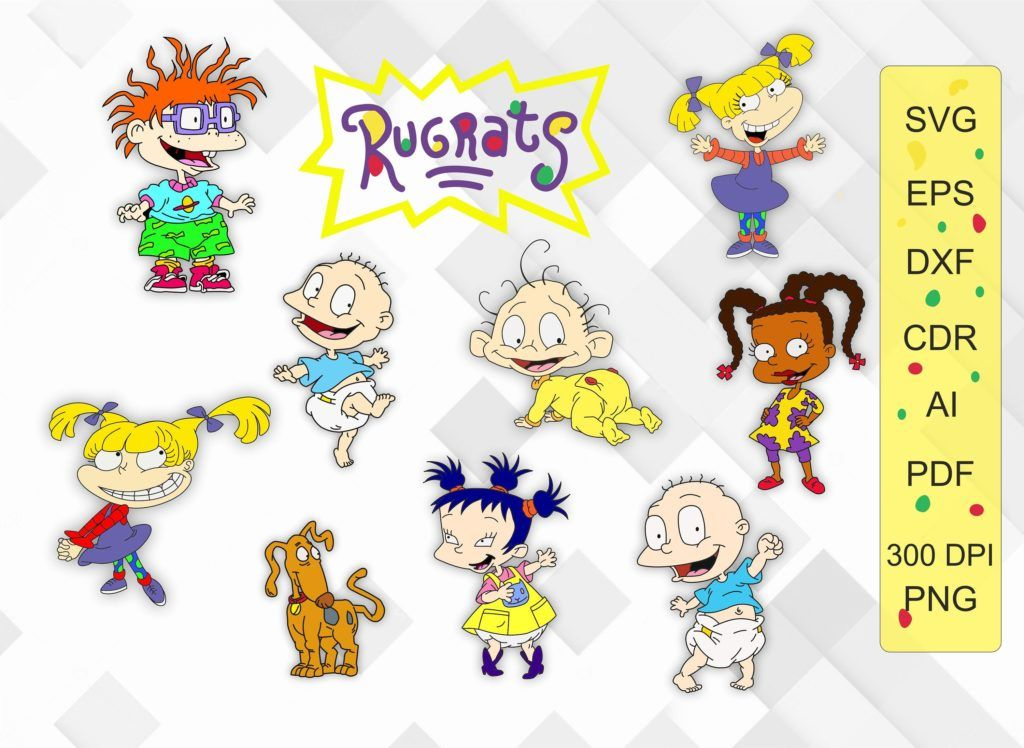 Rugrats Bundle SVG, Susi, Dil, Tommy, Angelica, Chuckie