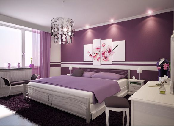 Bedroom Ideas For Women Combined With Divine Furniture And Accessories With Smart Decor 7 Purple Bedroom Design Beautiful Bedroom Designs Home Bedroom
