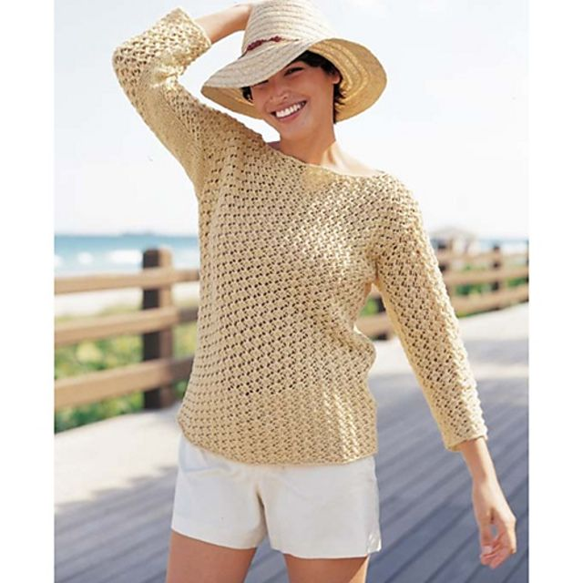 Ravelry: Boat Neck Pullover pattern by Norah Gaughan ...