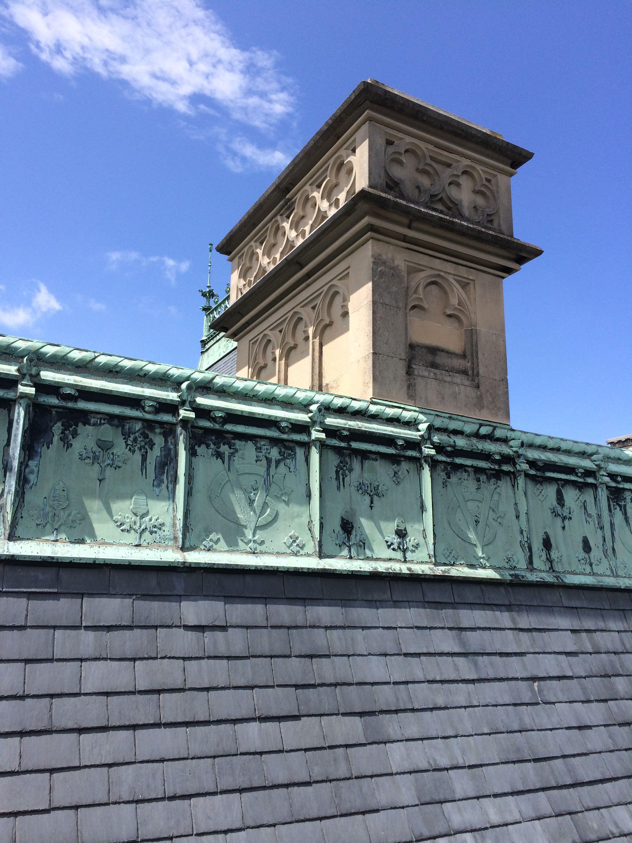 The George Vanderbilt Monogram In The Copper Ridge Piece On The Slate Roof Of The Biltmore Biltmore Estate Biltmore House Biltmore