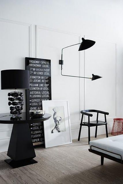 2-arm Serge Mouille wall lamp