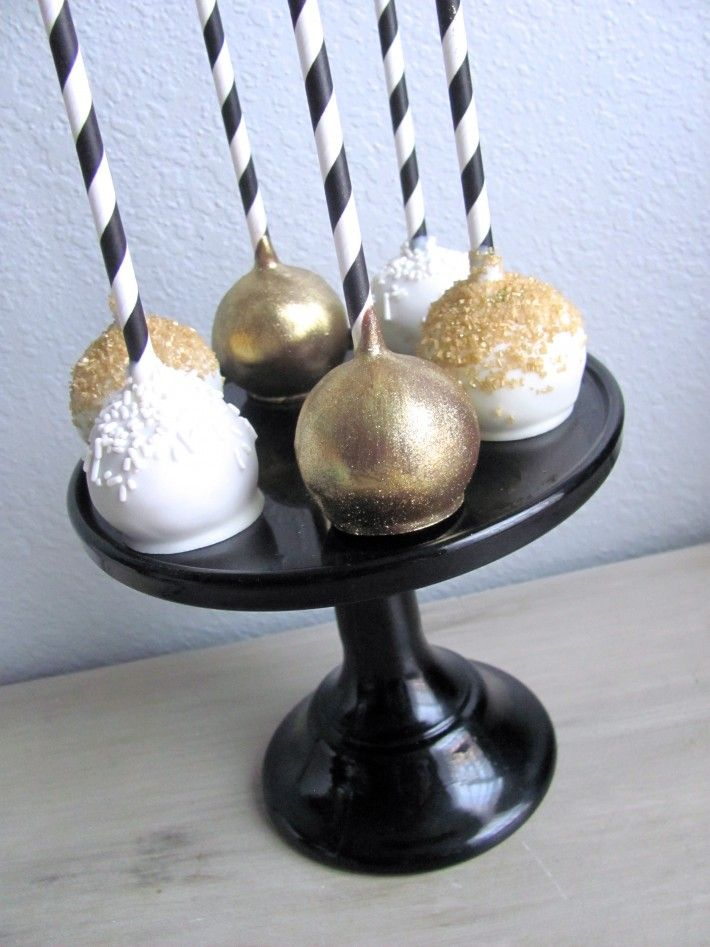 Black And Gold Vandy Cake Pops Nashville Sweets Gold