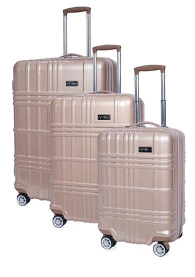 45b948891e5c Jessica Simpson Jewel Plaid Spinner Hardside Luggage Collection - Gold