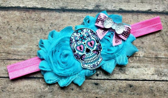 Sugar Skull Baby, Day Of The Dead Baby, Sugar Skull Headband, Sugar Skull Bow, Skull Baby, Skull Hea