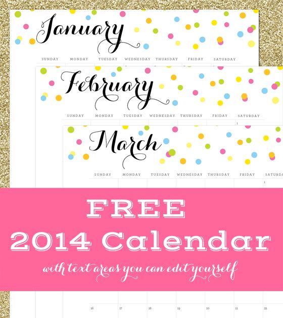 2014 Calendar :: Free Download - 505 Design, Inc