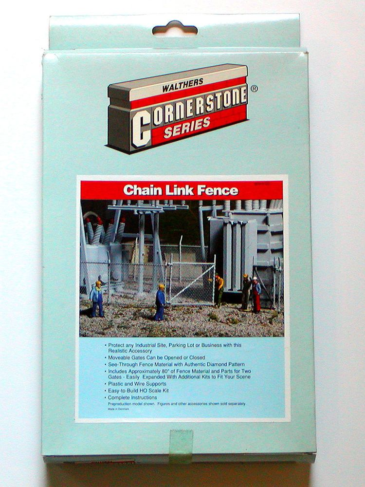 Nib Ho Walthers Cornerstone Chain Link Fence Gates Kit 933 3125 Model Trains Walthers Modern Fence Fence Design Fence