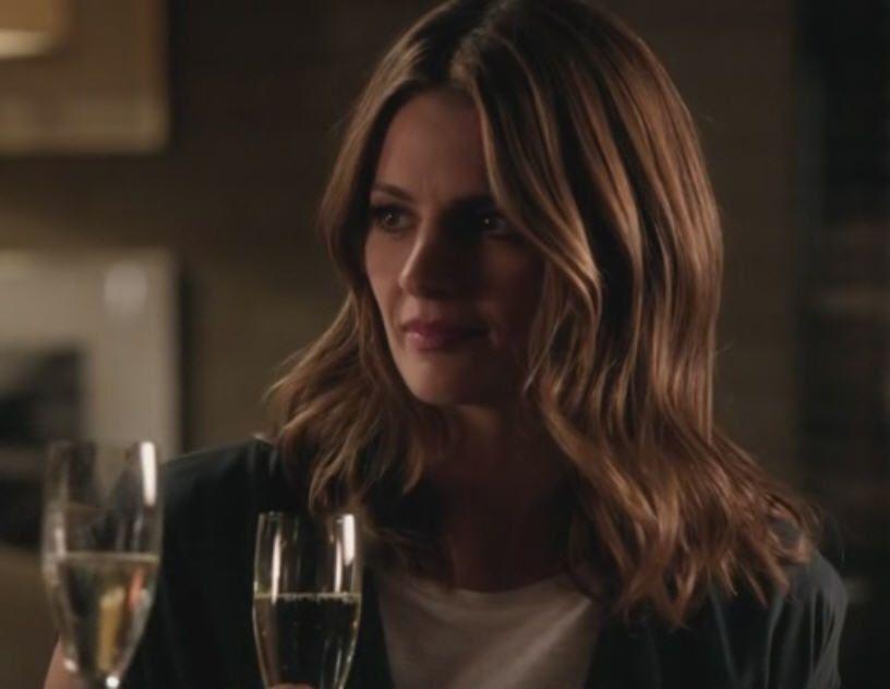 Stana Katic as Kate Beckett in Castle Season 7 Episode 1 ...