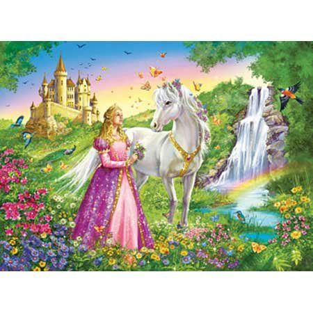 Princess With White Horse And Castle 200 Piece Puzzle By Ravensburger: Ages 8 And Up, 2015 Amazon Top Rated Jigsaw Puzzles #Toy